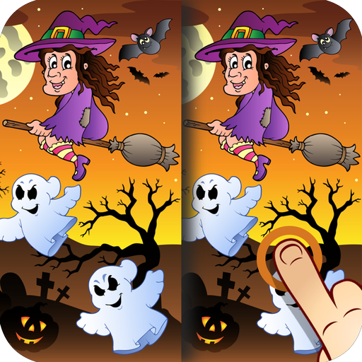 Halloween Find the Difference Game for Kids, Toddlers and Adults (Halloween Games Adults)