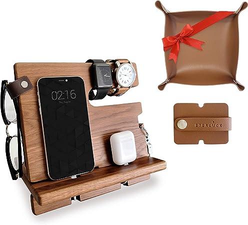 Eterluck Gifts for Men, Wood Docking Station Bundle