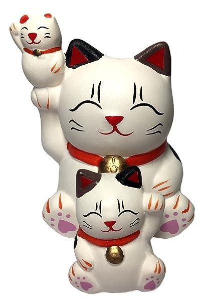 Feng Shui de gato de la suerte gato decoración para buena suerte (con un Betterdecor