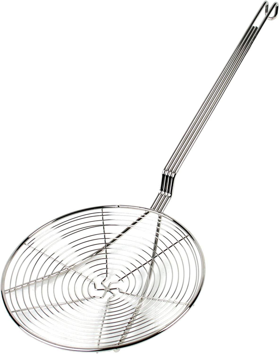 Thunder Group Nickel Plated Spiral Wire Skimmer, 9-Inch