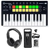 Novation LAUNCHKEY MINI MK2 25 Key USB Keyboard Controller+Headphones+Mic+Case