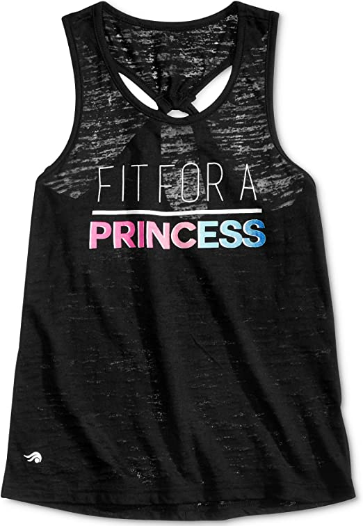 Graphic-Print Fit For A Princess Tank Noir X-Large 16 Ideology Big Girls 7-16