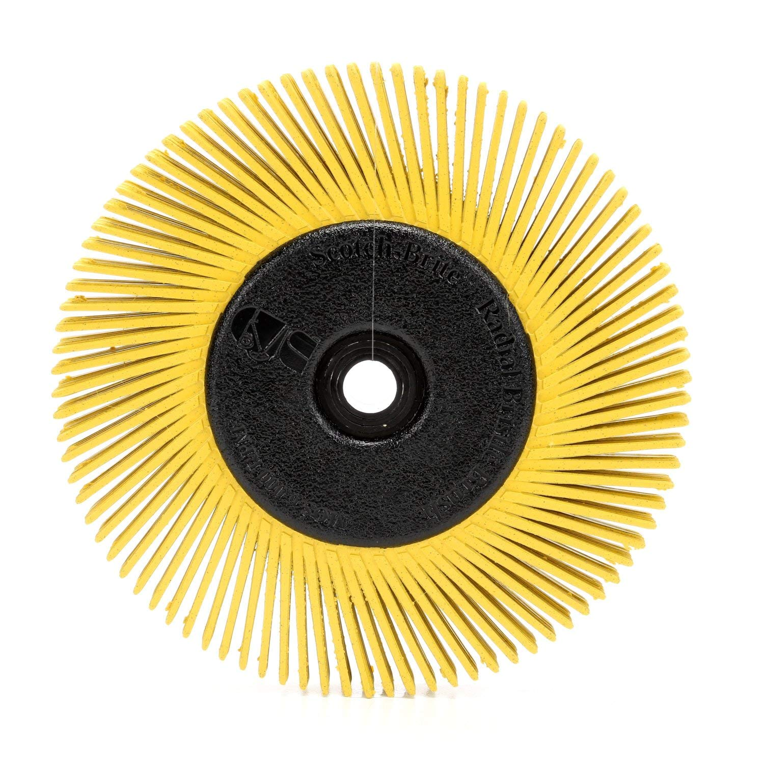 Scotch-Brite Radial Bristle Brush, 6 in x 1/2 in x 1 in 80 With Adapter