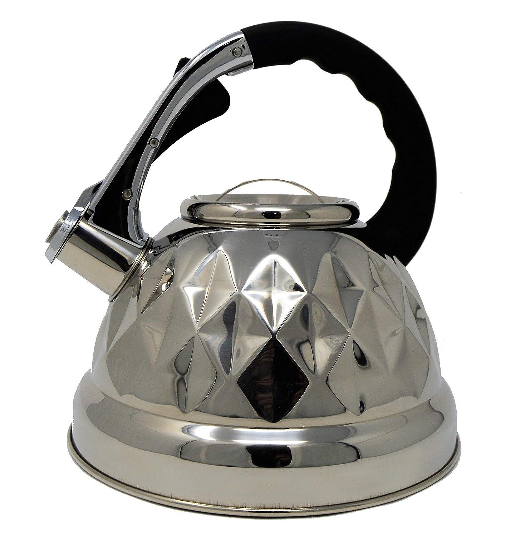 ZestyNest Black Whistling Tea Kettle