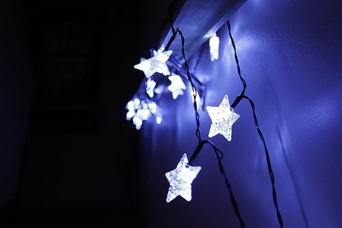 Star filo di luci a led a energia solare colore: bianco misura