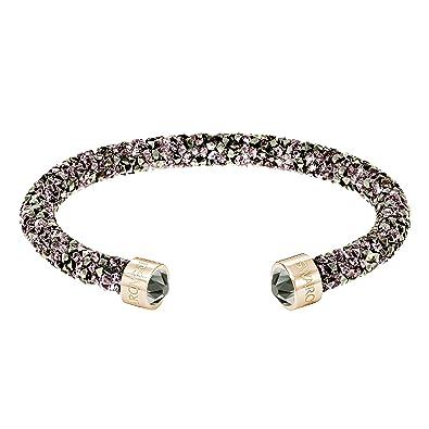 8d0d55e5f3372 Swarovski Women's Rose Gold Plating and Brown Crystaldust Bracelet Bangle