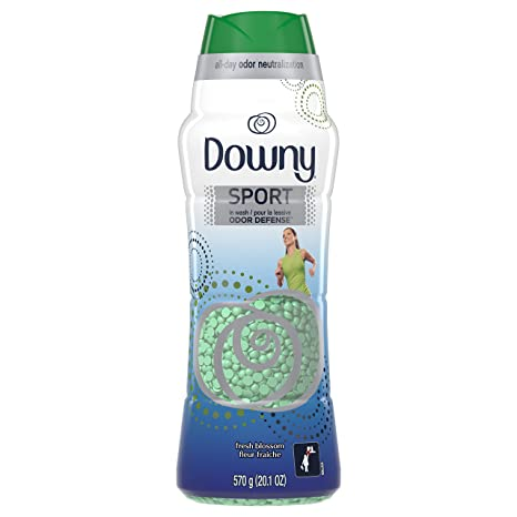 Downy Sport Odor Defense Beads in Wash Scent Beads, Fresh Blossom, 20 1  Ounce