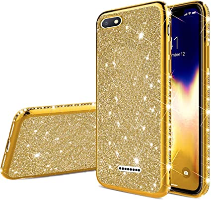 Herbests Compatible with Xiaomi Redmi 5 Glitter Case Girl Women Bling Glitter Sparkle Crystal Diamond Rhinestone Crystal Clear Silicone TPU Bumper Case Protective Phone Case,Silver