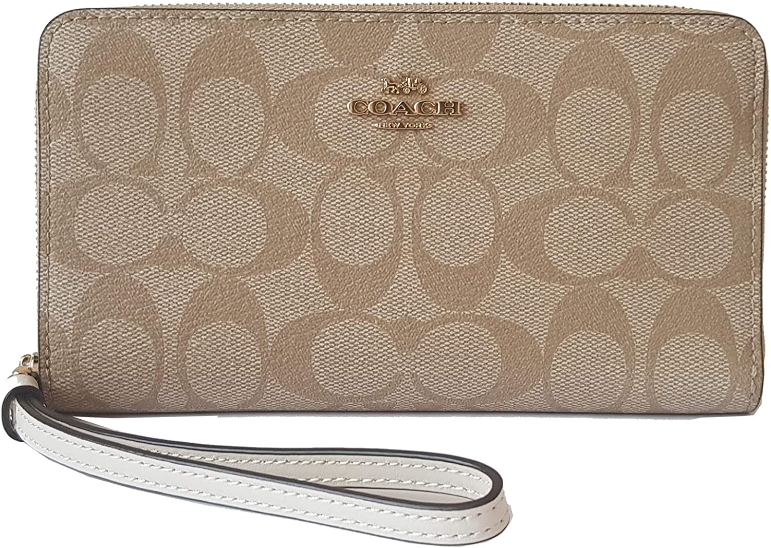 Coach Signature Large Leather Phone Wallet - #F73418
