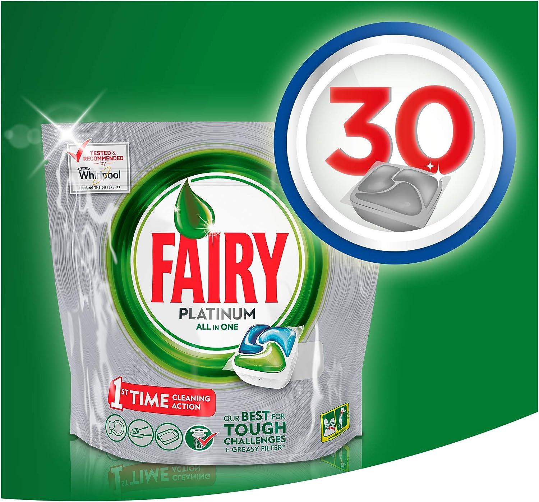 Fairy Platinum Cápsulas De Lavavajillas - Pack 24+6 unidades ...