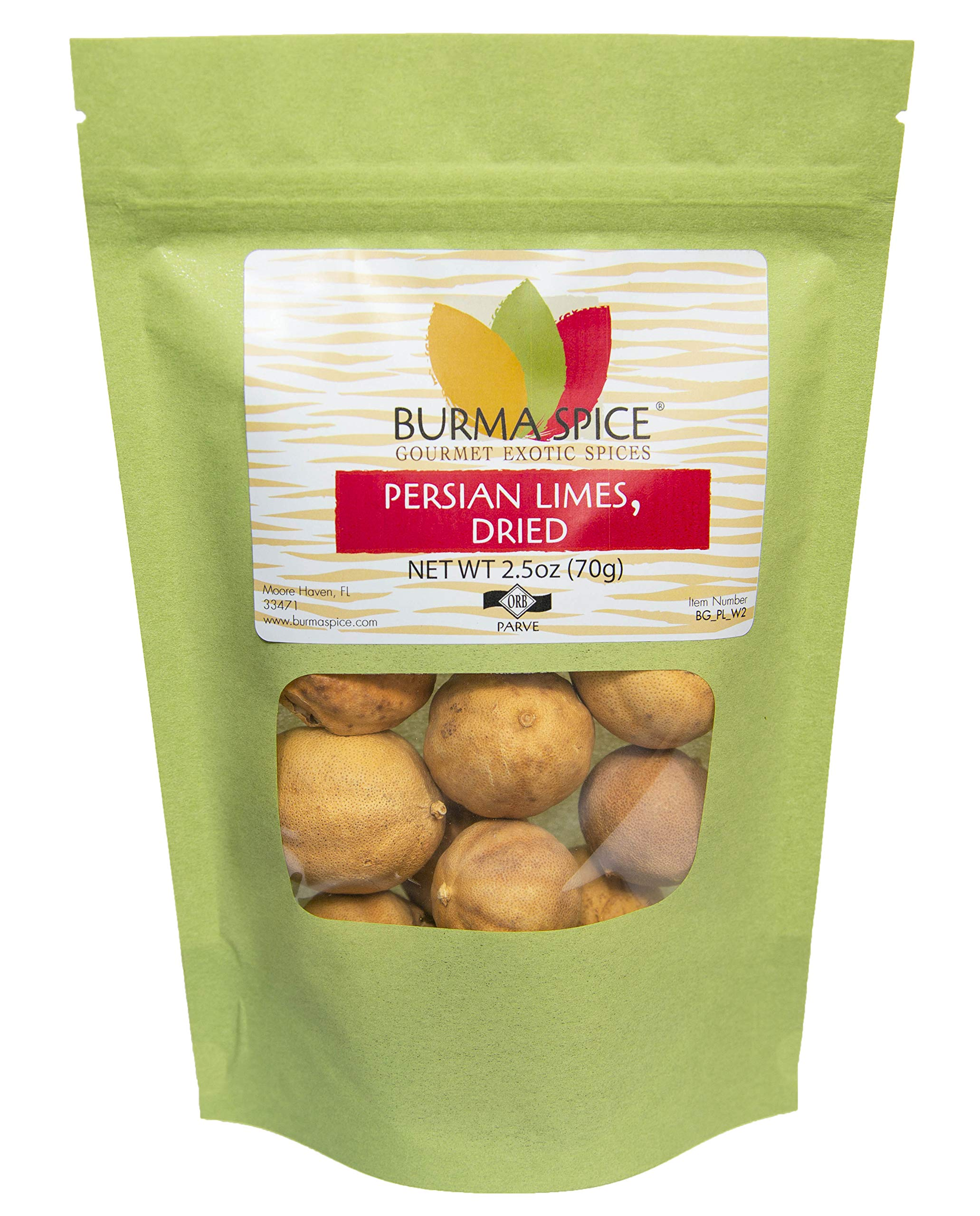 Dried Persian Limes, Whole | (Limu Omani) | Ideal for Seasoning Meat and Fish. 2.5 oz.