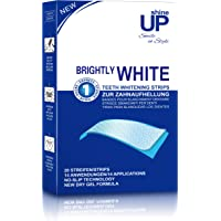 Teeth Whitening Strips - 28 Professional Bright White-Strips - NO Slip Technoogy - shineUP Peroxide Free Whitening Strips - EU & UK Approved - Safe Home Tooth Teeth Bleaching Kit