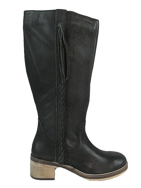 Neu Damen Stiefel SHEEGO XL Weitschaftstiefel Schwarz Aus