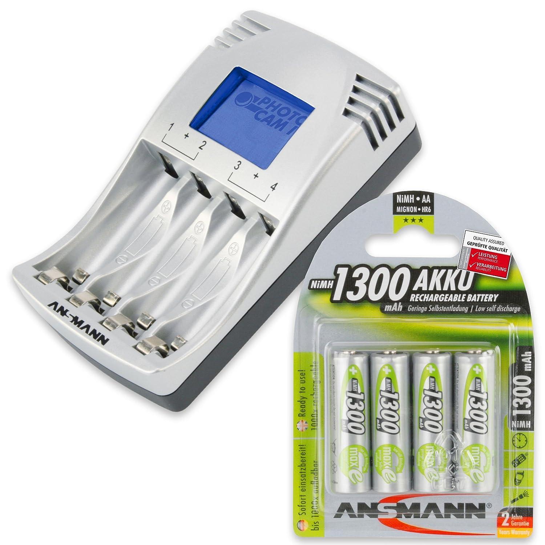 4x AAA Akkus 1100mAh ANSMANN PhotoCam IV Akku-Ladegerät für AAA//AA Akkus