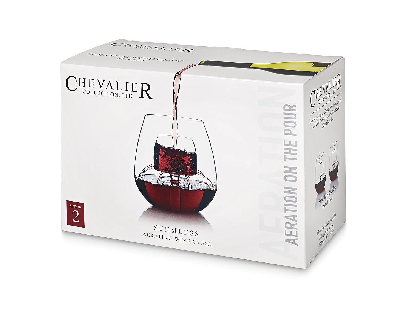 ensemble de 2 CHEVALIER COLLECTION - a/érateur de vin LTD a/ération vin verres de Collection Chevalier