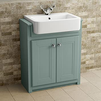 traditional bathroom vanity unit furniture floor standing storage marine mist - Bathroom Vanity Units
