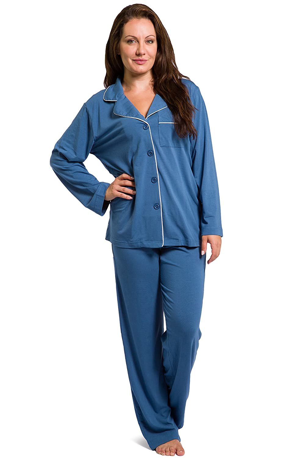 Women's Pajama Set; Long Sleeve, Eco Friendly Jersey Fabric