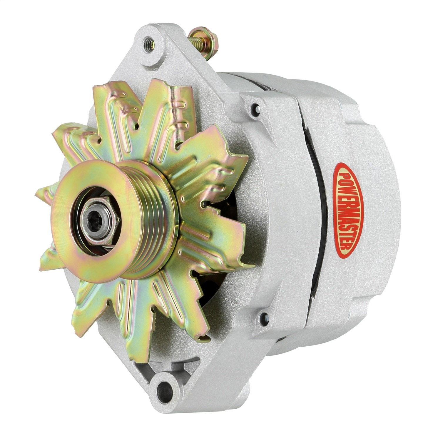 12SI 150A 6 Groove Pulley 1 or 3 Wire Powermaster Performance 47293-104 Natural Alternator