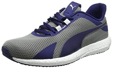 b75a123544c58f Puma Men s Mega Nrgy Turbo Blue Depths- White Running Shoes - 10 UK India