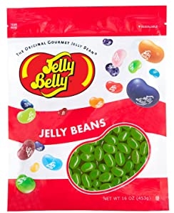 Jelly Belly Sunkist Lime Jelly Beans - 1 Pound (16 Ounces) Resealable Bag - Genuine, Official, Straight from the Source