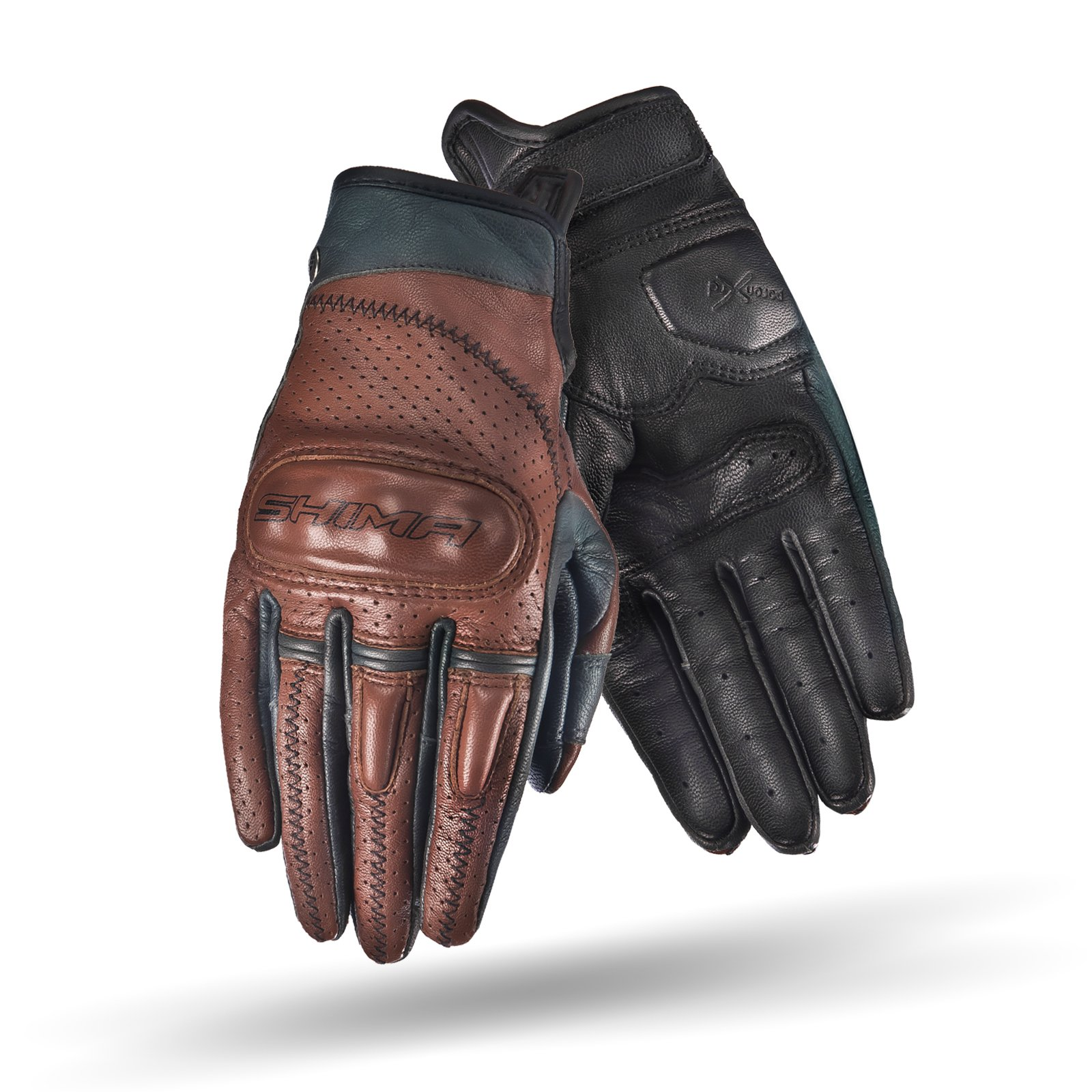 SHIMA CALIBER LADY, Women Retro Vintage Custom Summer Leather Motorcycle Gloves (XS/S/M/L) (L, Brown) by SHIMA (Image #3)