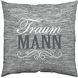 """GRUSS & CO 44334 Baumwollkissen """"Traum Mann"""", 40 cm x 40 cm"""