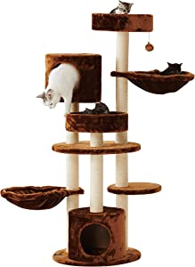 """Free Sopapets 56"""" Deluxe Multi-Level Cat Scratching…"""