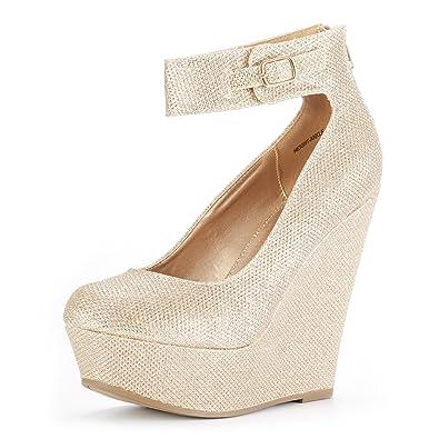 99a65cbbcc13d DREAM PAIRS Women's Height-Ankle Fashion Wedge Platform Pumps Shoes