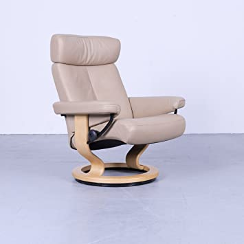Stressless Ekor Ness Orion Fauteuil Relax Taille M Beige