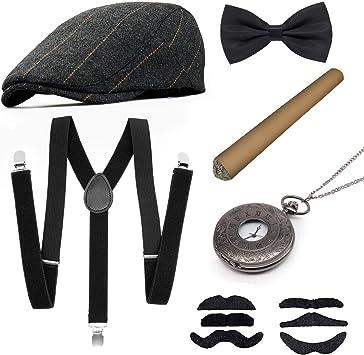 MMTX 1920s Accesorios de disfraces para hombre, conjunto Flapper ...