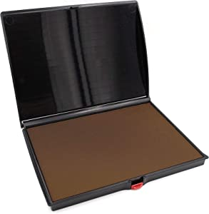 """Extra Large Premium Brown Ink Stamp Pad - 5"""" by 7"""" - Quality Felt Pad"""