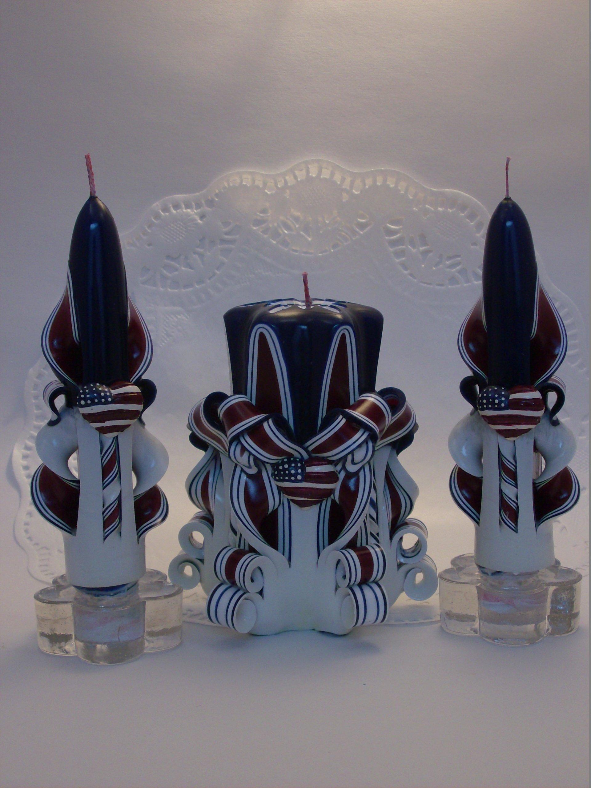 Americana Centerpiece Candle Set