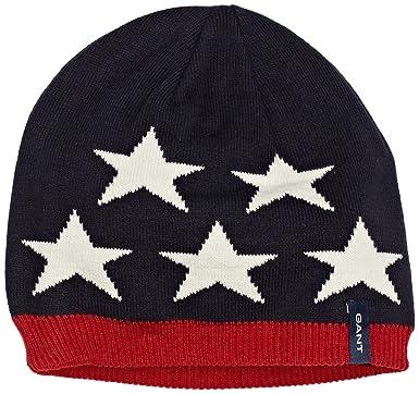 Gant Stars & Stripes Knit Beanie Gorro de Punto, Thunder Blue 413 ...
