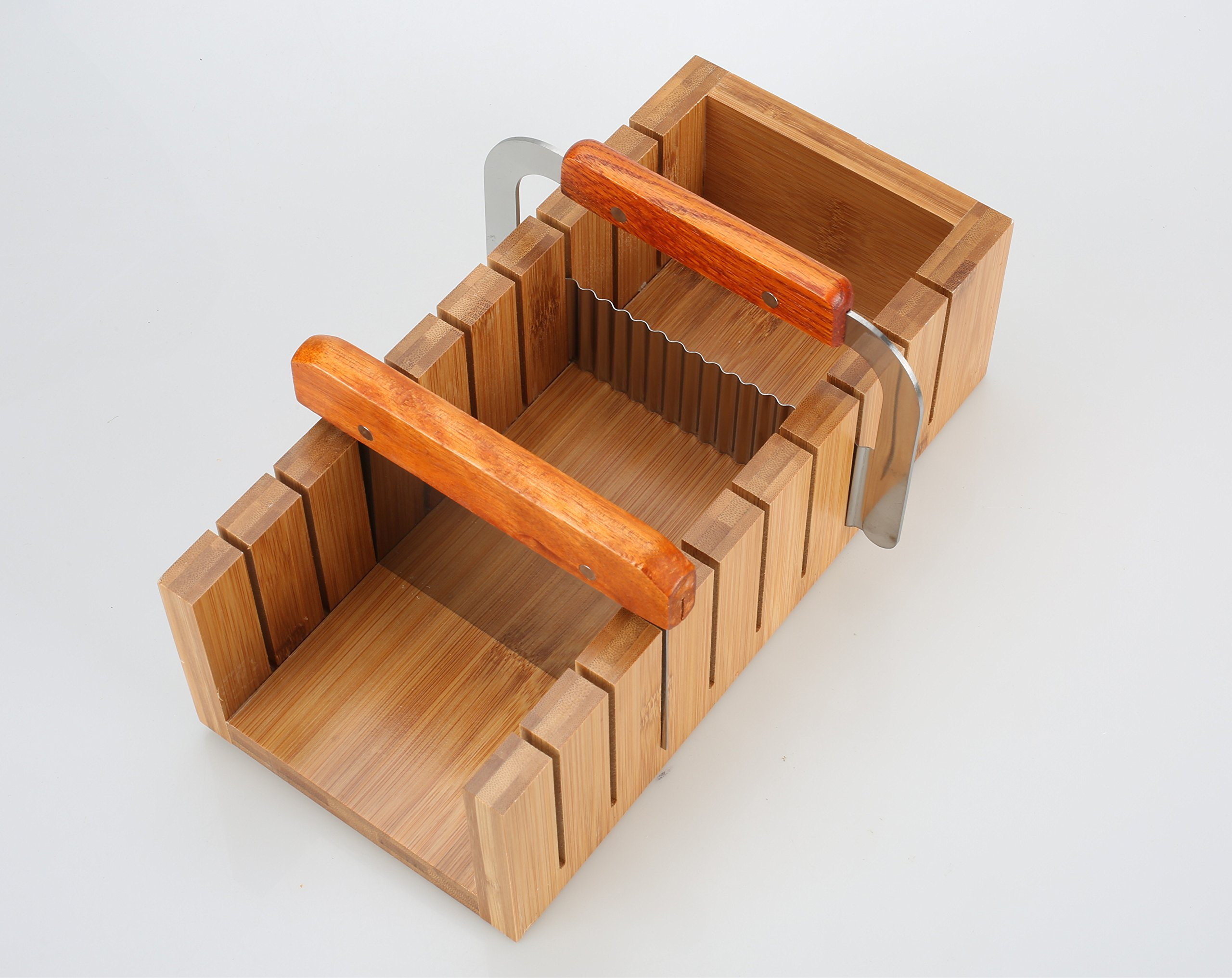 Wood Soap Mold Loaf Cutter Mold with 1pcs Wavy & Straight Planer Cutting Tool Set (1 INCHES)
