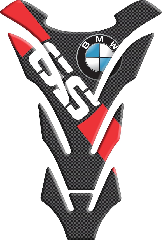Motoking tanque pad compatible ETIQUETAS 3D-ETIQUETA  BMW GS roja tanque de la motocicleta y la protecci/ón de la pintura universal