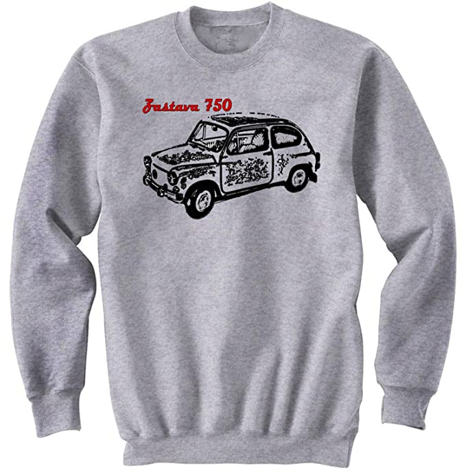 TEESANDENGINES Mens Zastava 750 Serbian Car Gris Sudadera: Amazon.es: Ropa y accesorios