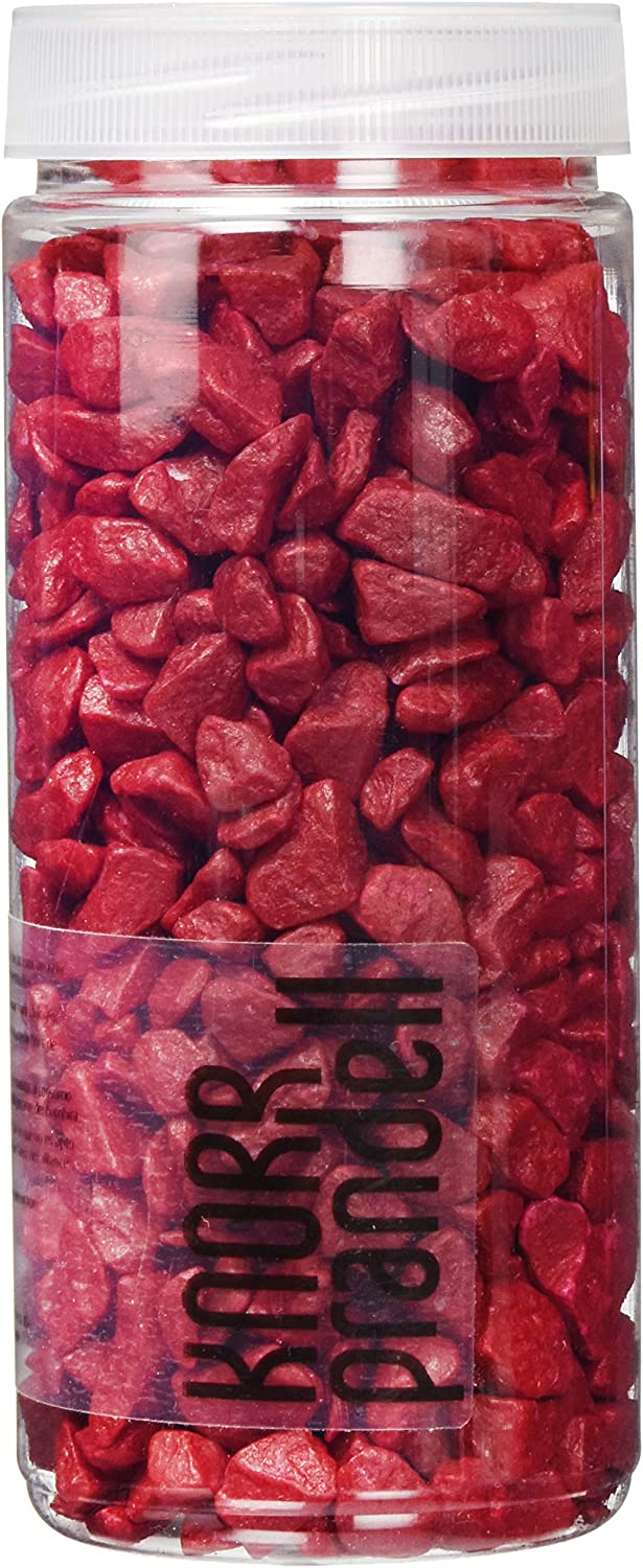 Knorr Prandell 218236205 piedras decorativas 9 – 13 mm, 500 ml, color: rojo