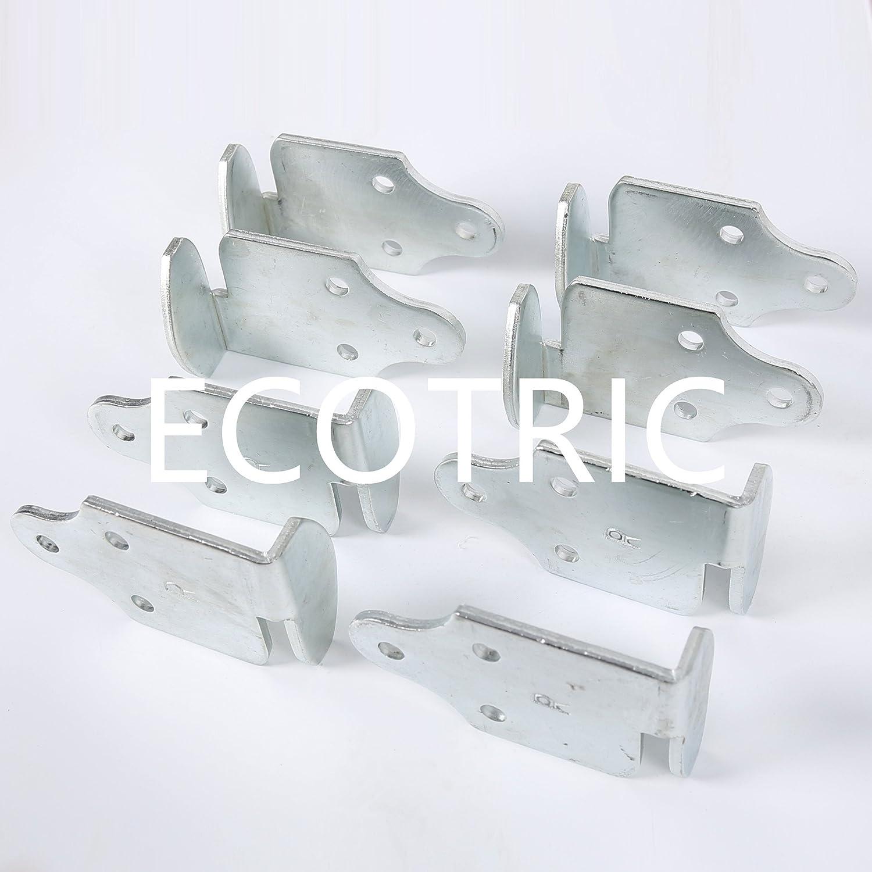 ECOTRIC 8 Pc Stake Body Utility Trailer Rack Corner Connector Wood Panel Gate Side Latch Brackets EGOBIKE CA-34