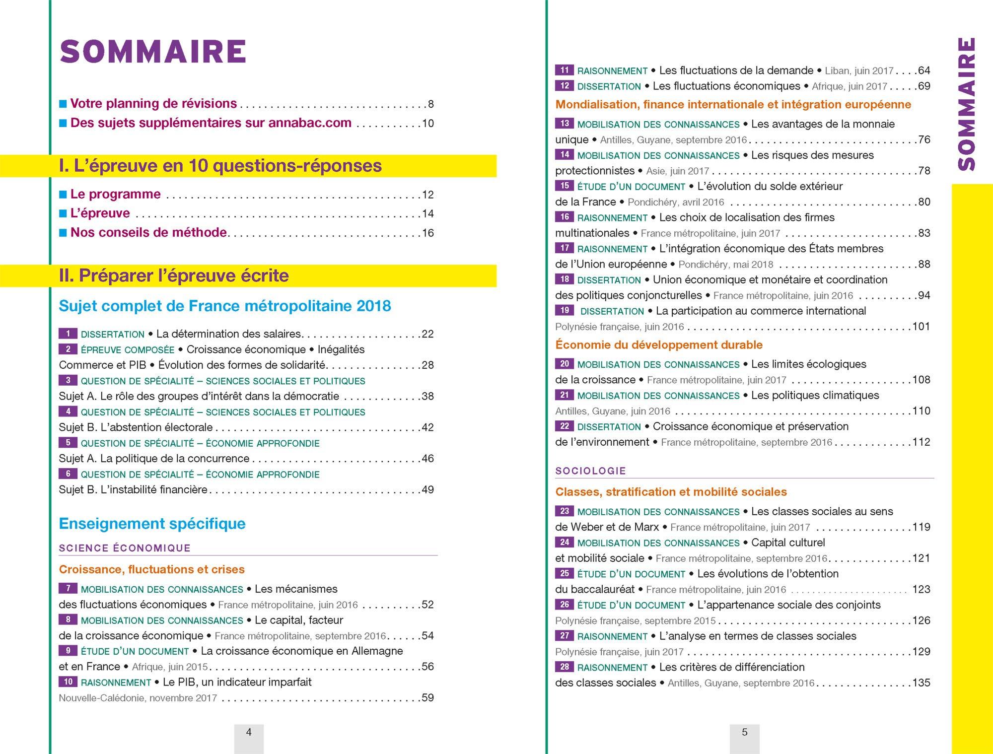 Annales Annabac 2019 SES Tle ES spécifique & spécialités: sujets et corrigés du bac Terminale ES: Amazon.es: Sylvie Godineau, Denis Martin, Franck Rimbert: ...