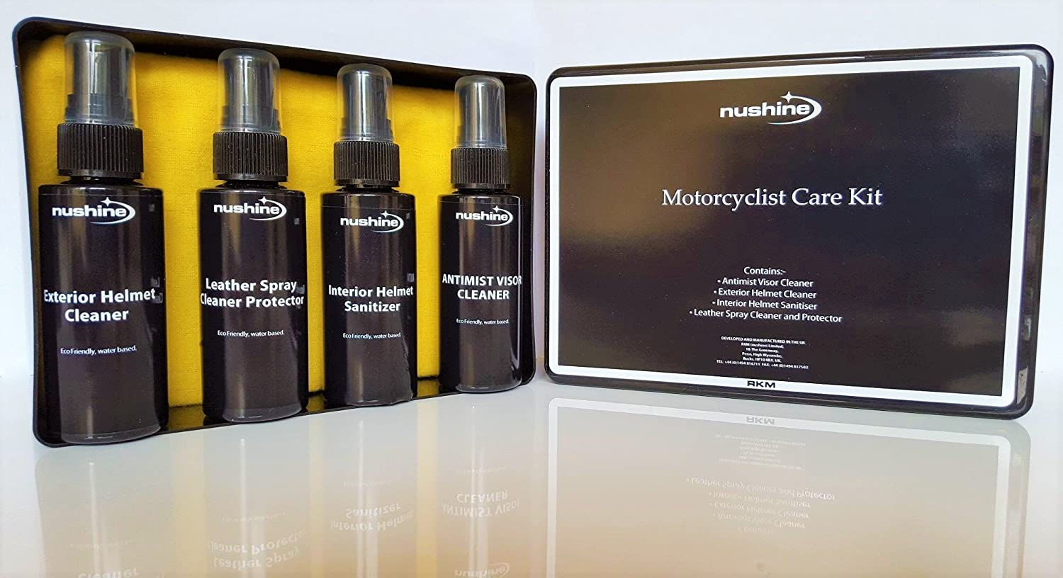 Nushine Motorcyclist Care Kit for Helmet and Leathers (Eco-friendly) - Ideal Gift, Motorbike Gift