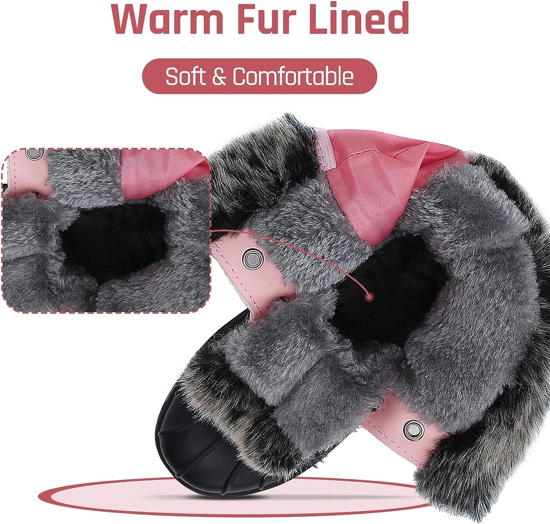 Toddler//Little Kid//Big Kid Mishansha Boys Girls Winter Snow Boots Warm Anti-Slip Waterproof Kids Cold Weather Shoes