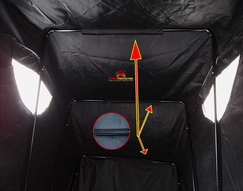 Flocage en Film Daluminium /épais MAOMAOQUEENss Housse De Protection Solaire /étanche pour Moto 2 Trous De Verrouillage Antivol Adapt/é Aux Mod/èles De 1,6 /à 2,5 M,Argent,Silver-S-1.6m