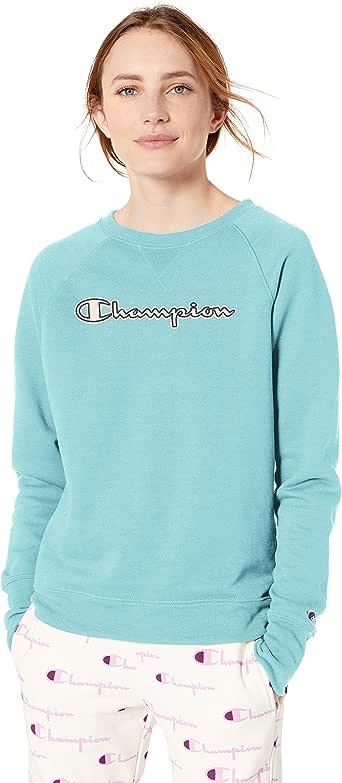 Champion Women's Powerblend Boyfriend Crew Sweatshirt