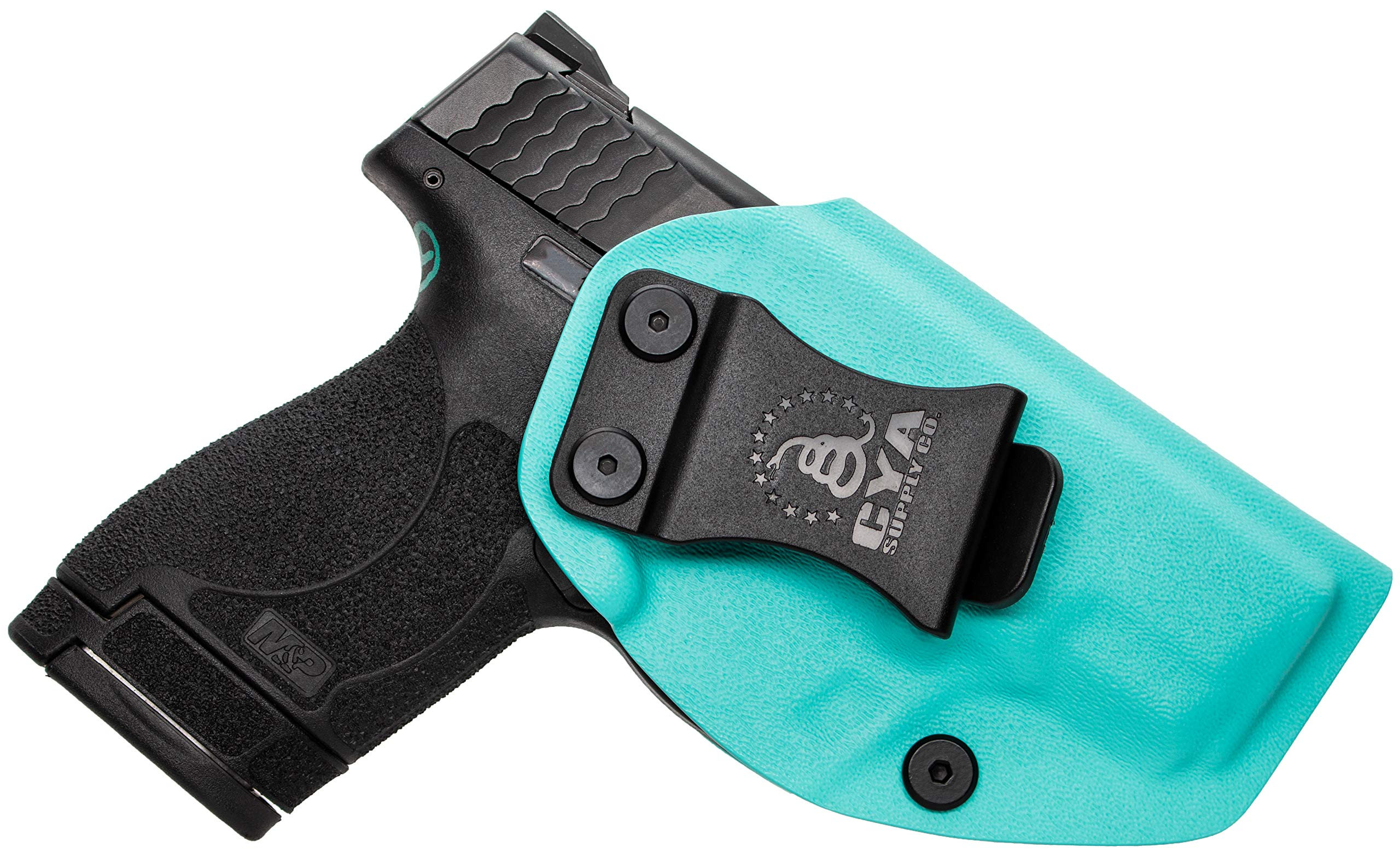 CYA Supply Co. IWB Holster Fits: Smith & Wesson M&P Shield & Shield 2.0-9MM/.40 S&W - Veteran Owned Company - Made in USA - Inside Waistband Concealed Carry Holster