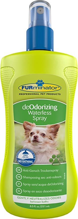 FURminator Anti-Geruch Trockenspray für Hunde, neutralisiert sanft ...