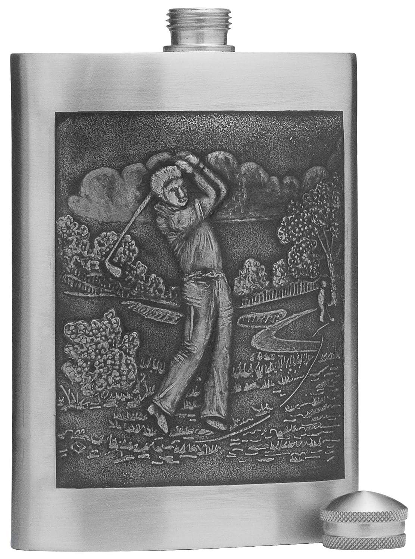 印象のデザイン 5オンス ピューターアルコール酒瓶 シルバー仕上げ B07D6W6BZ7 Golf シルバー仕上げ Motif Motif B07D6W6BZ7, オオシカムラ:4adb1e21 --- vezam.lt