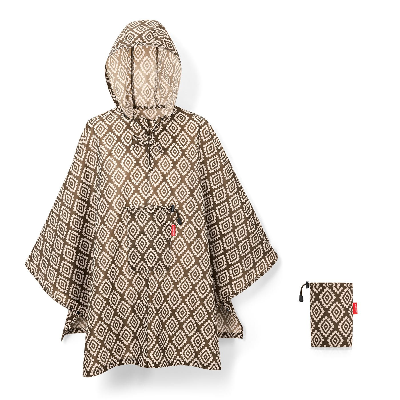 Reisenthel Mini Maxi Poncho Regenschirm, 141 cm, L, Diamonds Mocha AN6039