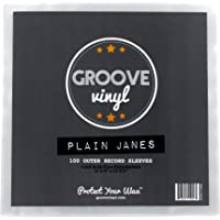 Groove Vinyl 12 Inch Outer Record Sleeves (100 Pack)
