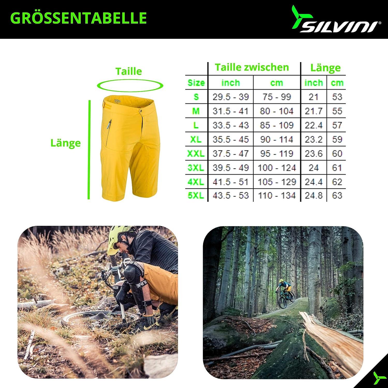 Silvini Dello Short de cyclisme VTT pour homme