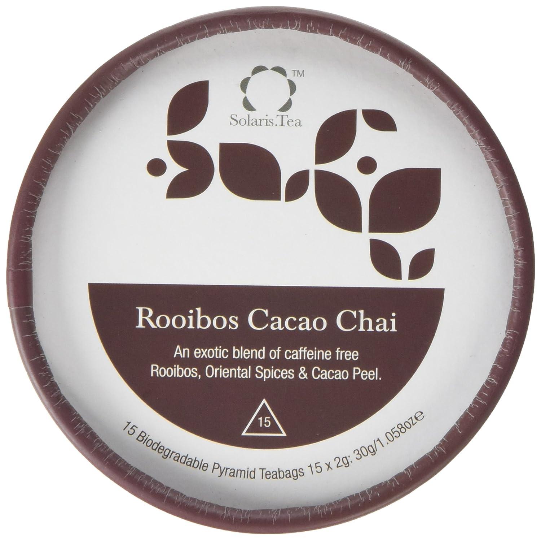 Solaris Tea Organic Rooibos Cacao Chai Teabags (Pack of 15